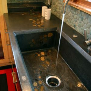 Custom concrete kitchen sinks in san jose ca mark concrete custom concrete kitchen sinks workwithnaturefo
