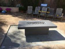 Custom raised concrete fire pit